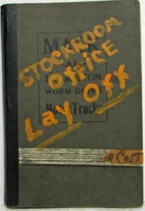 1924 Mack Truck AB Worm and Chain Drive Model Parts Book