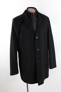 s.Oliver Selection schwarzer Mantel Kurzmantel Gr.54/XL Wollmischung Top Zustand