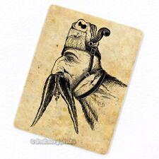 Dual Personality Deco Magnet, Man vs Goat Fridge Vintage Political Ad Mustache