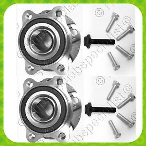 Front Wheel Hub Bearing Assembly For 2010-2014 AUDI A4 A4 QUATTRO W BOLTS 2 SIDE