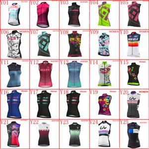 2019 New Team Cycling Jersey Vest Summer Breathable Women bike sleeveless shirt