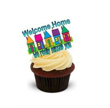 Novelty WELCOME HOME - WE REALLY MISSED YOU! 12 STANDUPS Edible Cake Toppers