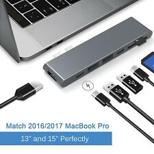 7-in-1 Aluminum USB Type-C Port Pro Hub Adapter for MacBook Pro 2016/2017