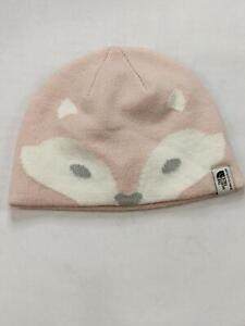 North Face Infant Beanie Hat 6-24 Months X-Small Pink Fox Forest White 161