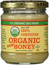 100% Certified Organic Raw Honey 8 oz 226 grams Paste