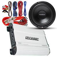 """1x Rockford Fosgate R2D2-10 10"""" 500W Subwoofer + Amplifier 1600W + 8 Gauge Kit"""