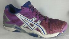 Asics E350Y Gel-Resolution 5 Tennis Shoes Womens 7.5 M Grape White Silver Casual