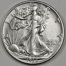 1936-p Walking Liberty Half.  A.U.  95217  (Inv. G)