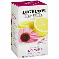 Bigelow Benefits Stay Well Lemon and Echinacea Caffeine-Free 18 Count Pack of 6