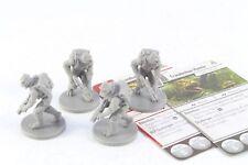 Star Wars Miniatures Trandoshan Hunter x 4 Imperial Assault Group Core Set V2