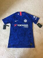 Chelsea FC Nike Vaporknit Blue 2019 Home Jersey Slim Fit Men's Size Small NWT