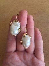 Orecchini in argento 925 dorato perla barocca made in Italy