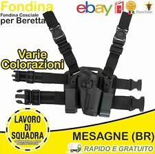 Fondina polimero Beretta 92 98 SGANCIO RAPIDO Cosciale Rigida Porta Caricatori