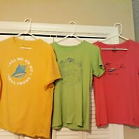 3 Short Sleeved  LIFE IS GOOD Shirts Women Medium