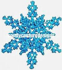 20  WATER SLIDE NAIL ART DECALS TRANSFERS CHRISTMAS TEAL SNOWFLAKE
