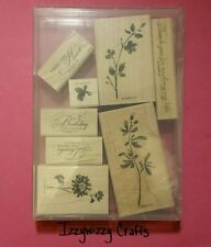 Stampin Up WATERCOLOR TRIO flowers blooms blossoms floral elegant wood mt (1517)