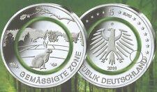 """5 EURO MÜNZE 2019 - POLYMER RING IN GRÜN - PRÄGEBUCHSTABE """"F"""" - GEMÄßIGTE ZONE"""