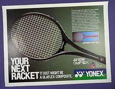 Yonex glaflex YY9200 Raqueta De Tenis-anuncio de revista original de 1980s de página completa