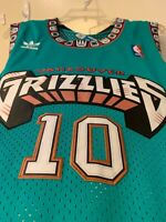 Mike Bibby Vancouver Grizzlies #10 Teal and White Mens Throwback Jersey