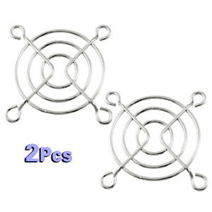2 PCS. 50mm Fan Grill Guard Chrome w/ Mounting Screws FREE SHIPPING FROM USA!