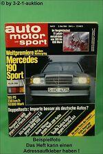 AMS Auto Motor Sport 9/84 * DB 190 E 2,3-16 De Tomaso Pantera Celica Supra
