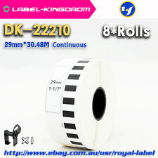 8 Rolls Brother QL-700 Compatible DK-22210 Label 29mm*30.48M Continuous DK-2210