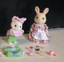 Vintage 1985 Calico Critters Sylvanian Family Rabbit Kitten Bunnies Purse & More
