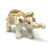 Siam Elephant Figurine Dollhouse Miniature Collectible Ceramic Hand Painted
