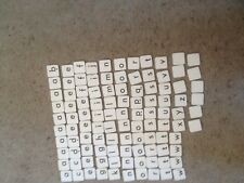 Junior Scrabble, Complete Set Of Cardboard Letter Tiles. Genuine Spears Games Pa