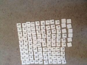 Junior Scrabble, Complete Set Of Cardboard Letter Tiles. Genuine Spears Games Pa