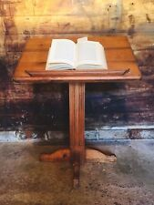 Vintage Pitch Pine Lecturn Reading Stand Menu Stand Music Stand