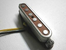 Red TOP A3 Telecaster Neck Open Cover  PICKUP HandWound Tele By Q