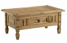 Rectangle Pine More than 200cm Coffee Tables with Drawers