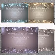 WINTER matrimonio sera giorno di ricezione Inviti Inviti x 12 + ENV Sparkle H1549