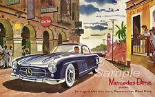 VINTAGE MERCEDES BENZ 300SL Pubblicità A2 poster stampa
