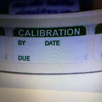 CALIBRATION  tiny 1//2x1 Sticker Label Permanent Adhesive 500//rl