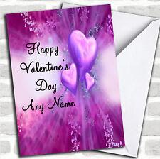 Purple Hearts Romantic Valentine's Customised Card