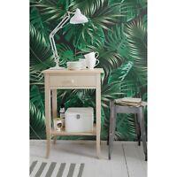 Dark Tropical Leaves in Jungle Non-Woven wallpaper Traditional watercolor Mural