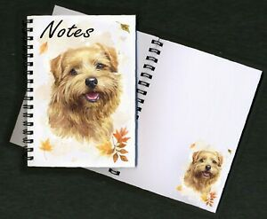 Norfolk Terrier Dog Notebook / Notepad + picture of every page - by Starprint