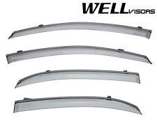 WellVisors Side Window Visors W/ Black Trim For 02-06 Suzuki Aerio 4Dr Sedan