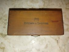 Vtg Brown Amp Sharpe Micrometer 200 Swiss Made 1div0001 In Box Two Tools 32nds