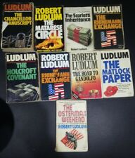 Robert Ludlum Vintage Antique Books Bulk buy, 9 books ranging from 1972 to 1987
