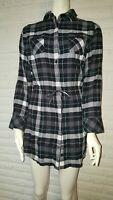 Patagonia Womens Organic Cotton Highlands Black Plaid Chambray Dress Size XS