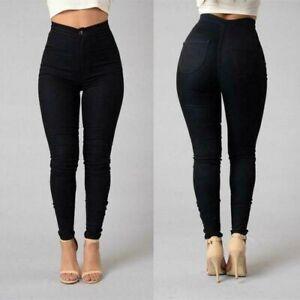 Jeans De Mujer Pantalones de moda Cintura alta Vaqueros Ropa Pantalon delgado