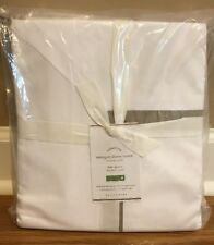 NEW Pottery Barn Morgan 400 Thread Count FULL QUEEN Duvet SIMPLY TAUPE