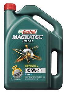 Castrol MAGNATEC 5W-40 Diesel DX Full Synthetic Engine Oil 5L 3383629