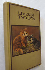 Lives of Two Cats 1902 Pierre Loti Pen & Ink Drawings Juvenile Childrens French