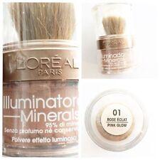 illuminante viso L'OREAL minerals polvere luminosa allover shimmer Rose Eclat 01