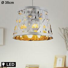 LED Decken Leuchte Textil Pendel grau Design Hänge Lampe Küchen Flur Beleuchtung