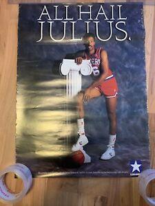 Vintage Converse Poster Philadelphia 76ers All Hail Julius DR J Erving